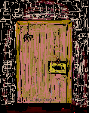 haunted door enrty