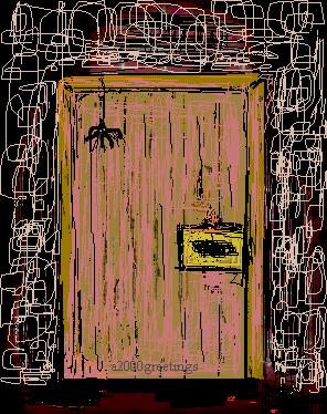 haunted door enrty